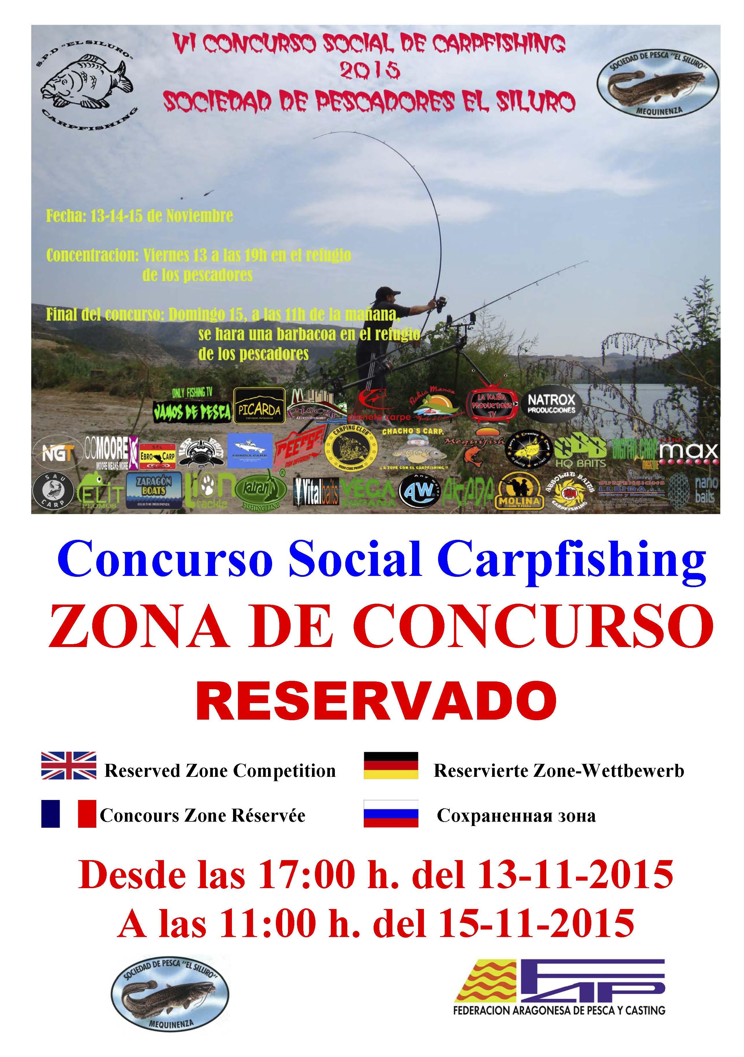 CARTEL VI concurso carpfishing 13 al 15-11-15 zona reservada (VARIAS ZONAS)-1